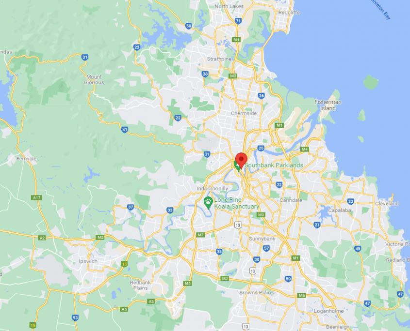Map of Brisbane